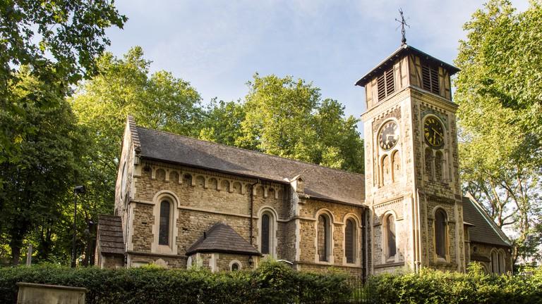 St Pancras Old Church in Camden, north London
