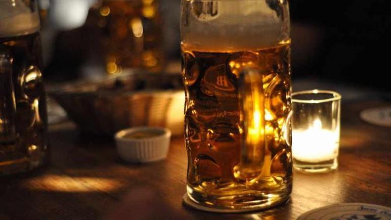 A German beer stein