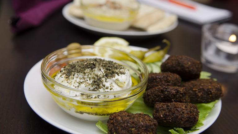 Food served in the Kasbah