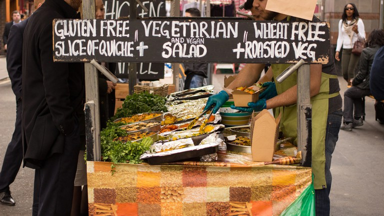 Food Stall at Leather Lane Market