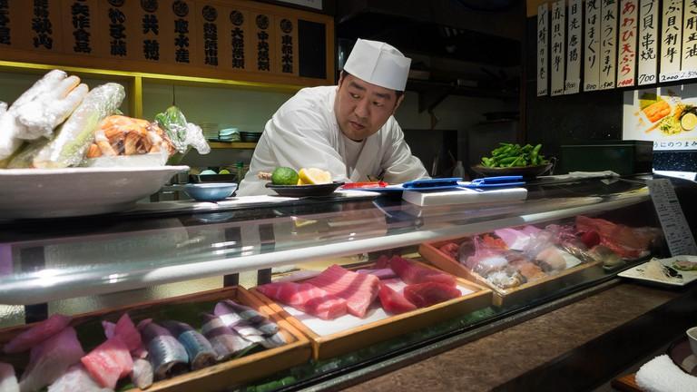 The sushi chef, Sushi Dai