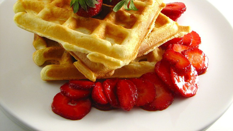 Waffles Are a Feature on the Menu