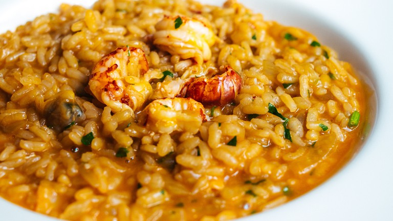 Risotto with crayfish