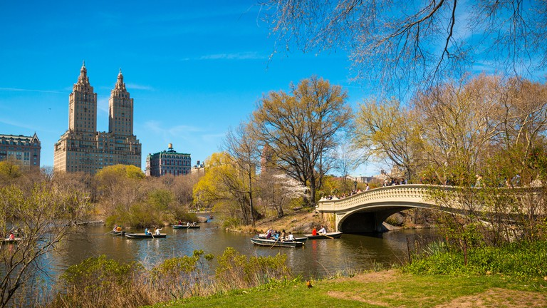 Bow Bridge, Central Park in Manhattan, New York City
