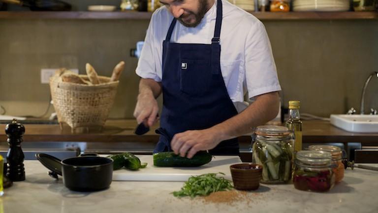 Alan in the kitchen | Courtesy of La Esquina