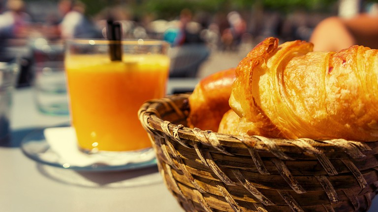 Croissants and Orange Juice