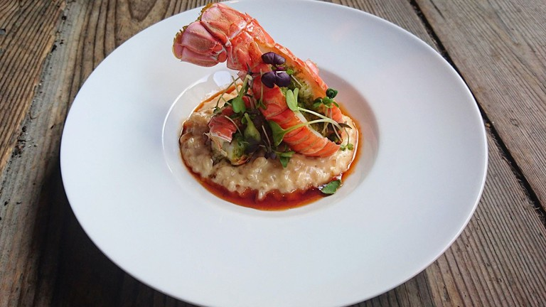 Lobster tail dish at Enhjørningen | Courtesy of Enhjørningen