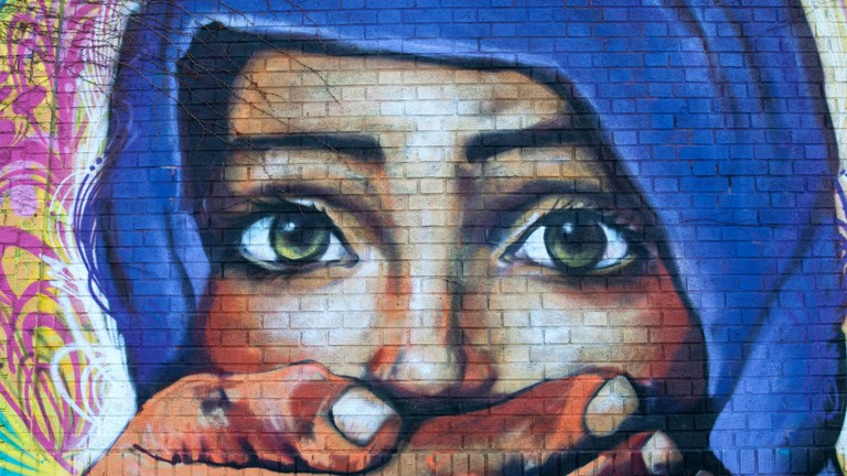 The Welling Court Mural Project features around 130 artworks