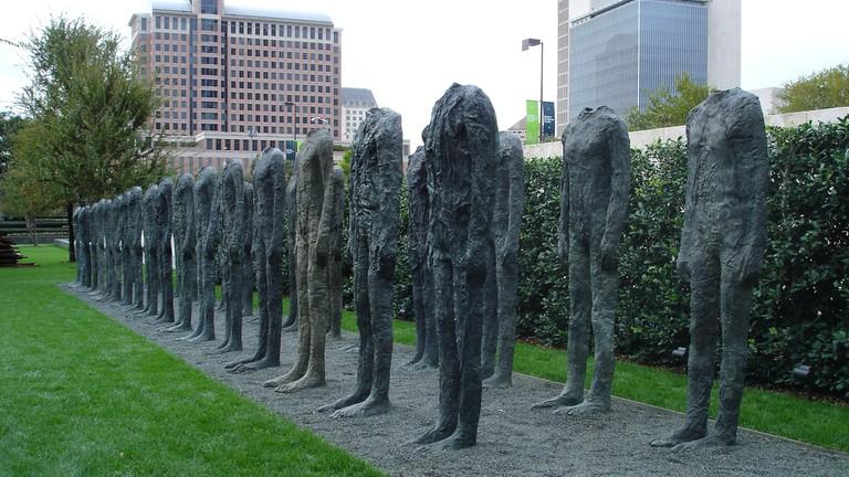 Nasher Sculpture Center has a lovely garden of large scupltures