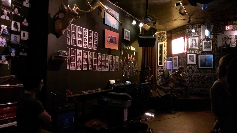 Open mic night at the Madrone Art Bar
