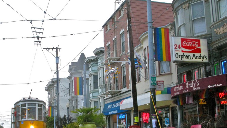 Orphan Andy's restaurant in the historic Castro district of San Francisco