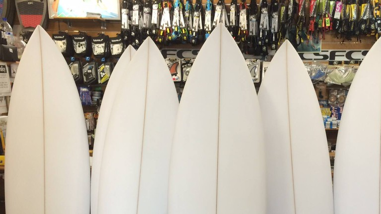 Surfboards | Courtesy of The Surf Boardroom