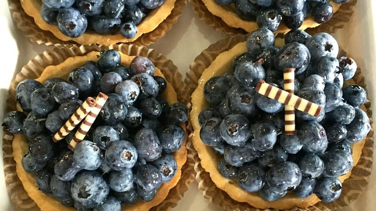 Blueberry pastries at Maple Street Patisserie