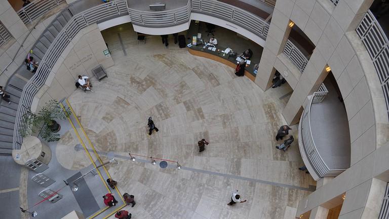 Looking down on the SFPL Main Branch © Joe Mabel/Wikipedia