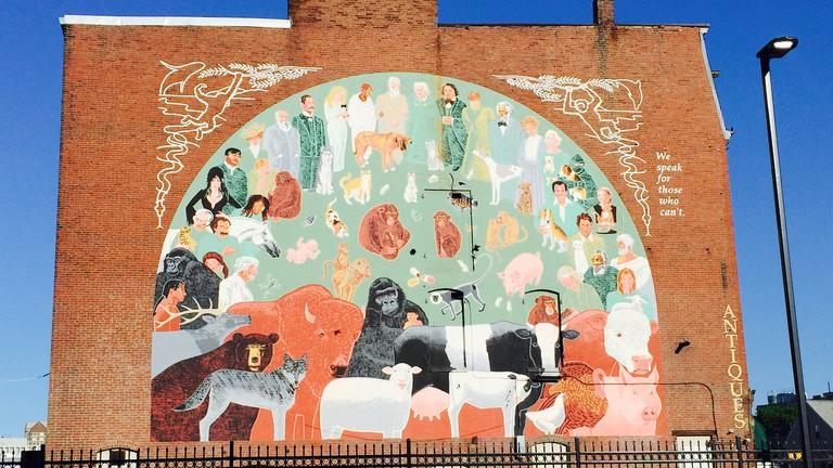 Monsignor O'Brien Mural, Cambridge, MA
