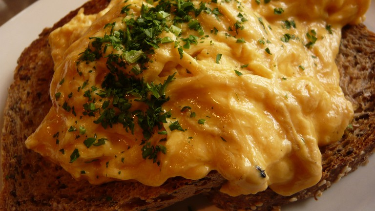 Scrambled Eggs On Toast at Sweet Mother's Kitchen