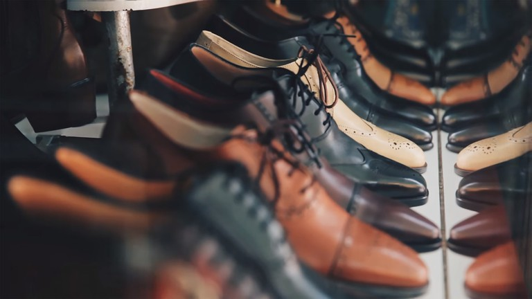 Leather shoes, similar to those you can find at Goodbye Folk