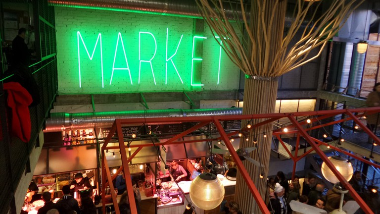 The San Ildefonzo market