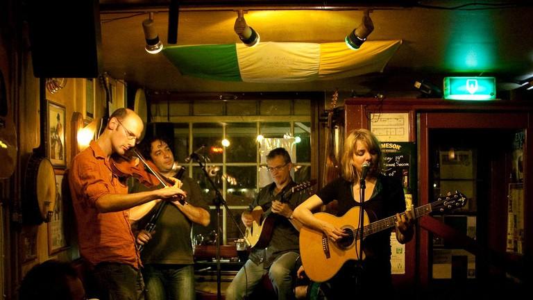 A performance at Mulligan's