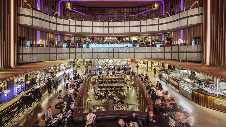 Platea food market is located in what used to be a theater