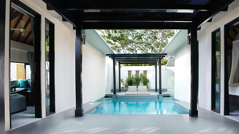 Private plunge pool in a one-bedroom villa