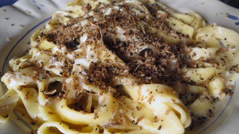 Try some black truffle pasta