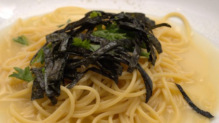 Enjoy a vegetarian pasta dish