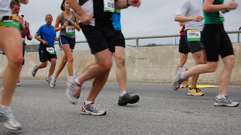 Runners in Austin