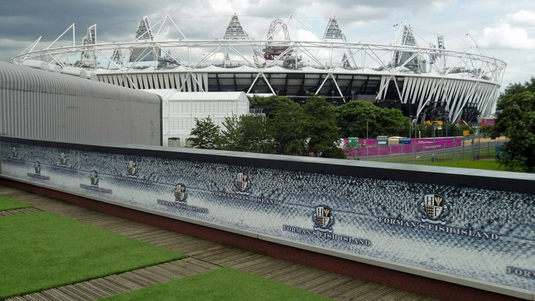 You can see the Olympic Stadium from the restaurant