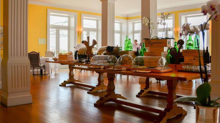 Breakfast room at The Yeatman Hotel