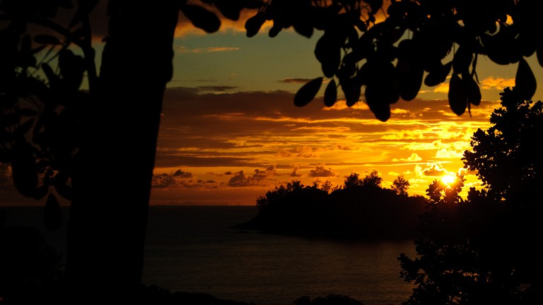 Visit sound garden and enjoy the stunning Baie Lazare sunsets.