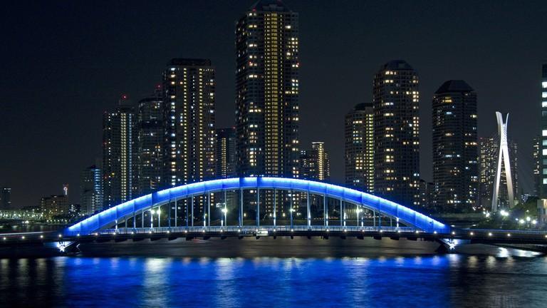Eitai Bridge at night | © ta / WikiCommons