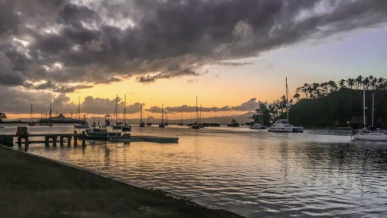 View out to the marina at Savusavu, Fiji
