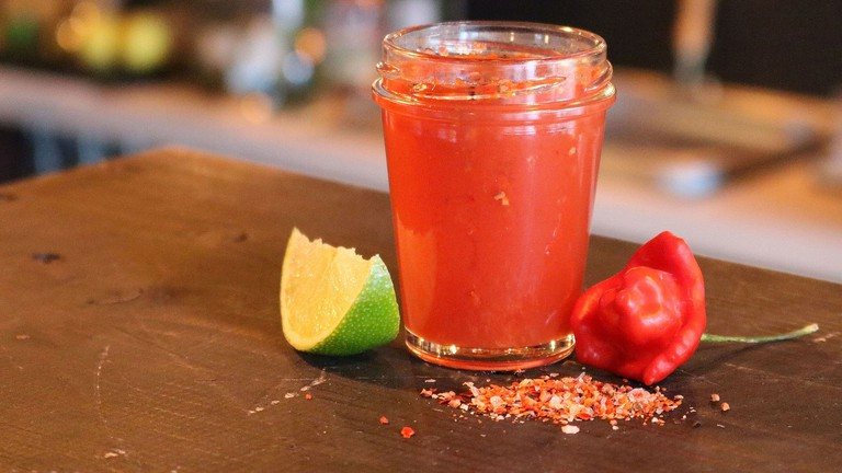 Sangrita, the Bloody Mary mix, is key to a good vampiro