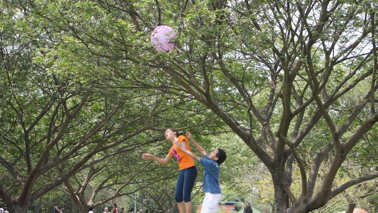 Boys playing at Parque Villa Lobos