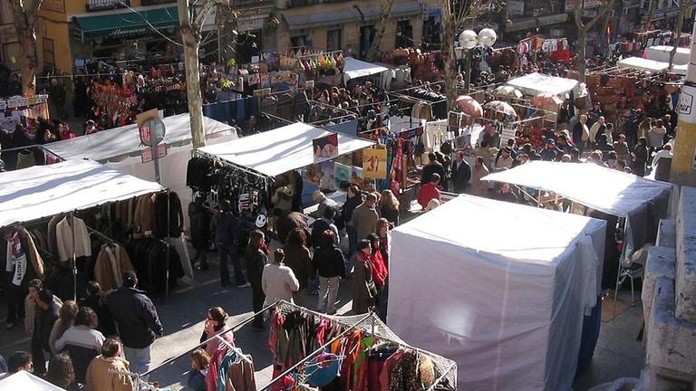 The El Rastro flea market