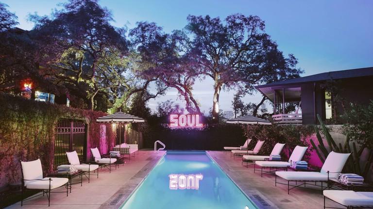Pool night at Hotel Saint Cecilia