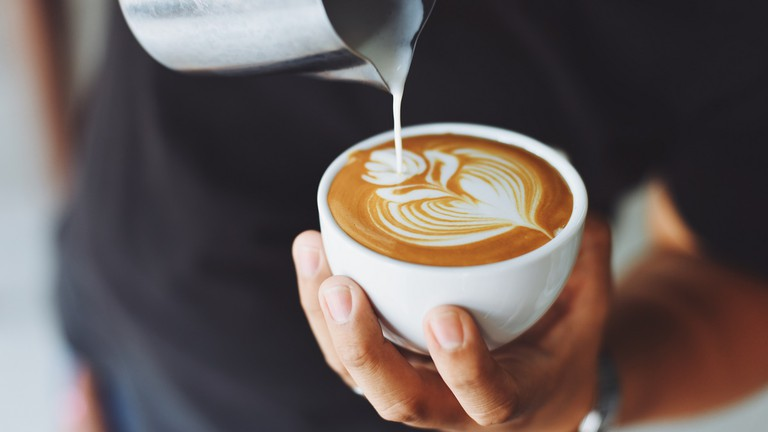 Indulge in a rich coffee drink