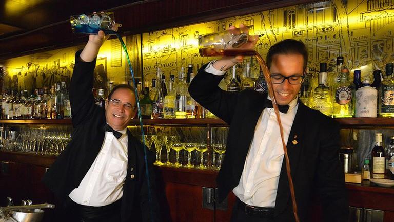The barmen hard at work Courtesy of Boadas