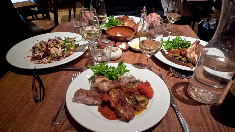 Dinner at Moro