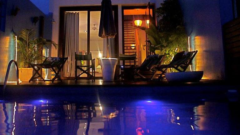 Aram Yami Pool at Night