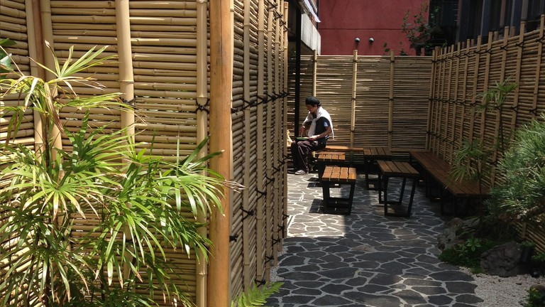 Exterior of Cafe Kitsune in Aoyama