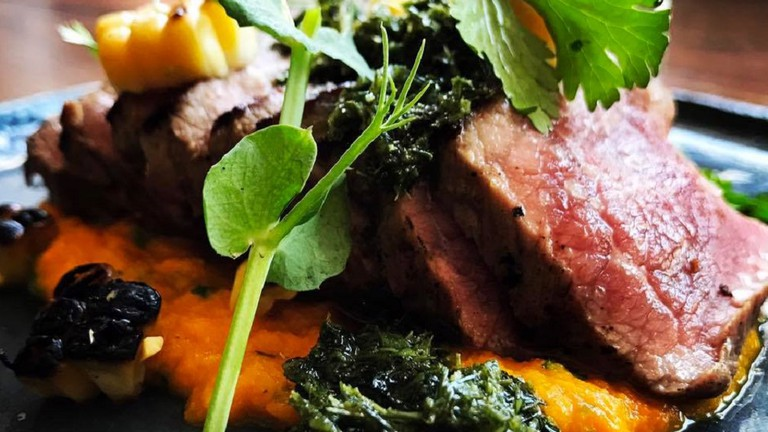 A meaty lunch special at Chalk and Cork