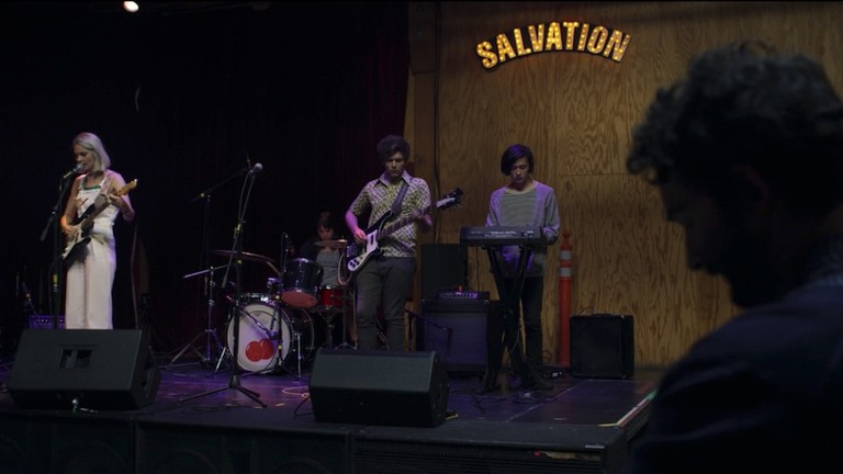 A band rehearses at the Bootleg Theater