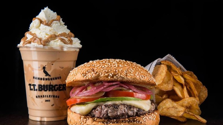 T.T. Burger with shake and fries |© T.T. Burger