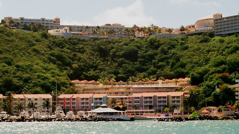 View of El Conquistador from the water