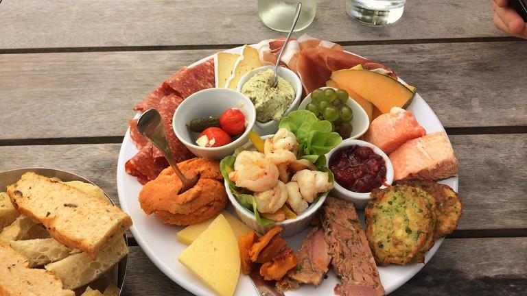Food platter at Carrick