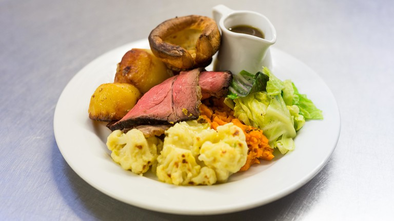 Sunday lunch | Courtesy of The Holford Arms