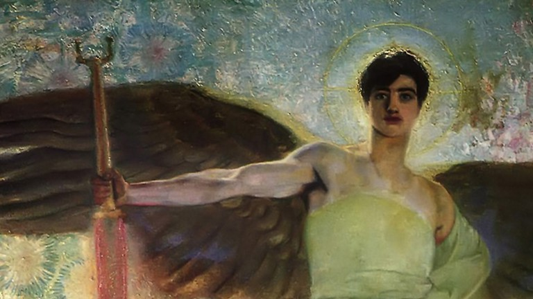 The Guardian of Paradise by Franz Stuck