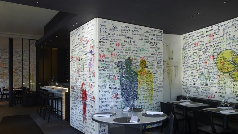 La salle et son Menu-Mental, par Fabrice Hyber │© Marc Domage, Courtesy of Les Bouquinistes